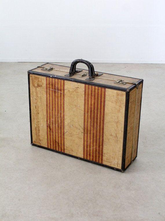 vintage 1930s suitcase / Oshkosh luggage by 86home on Etsy ...