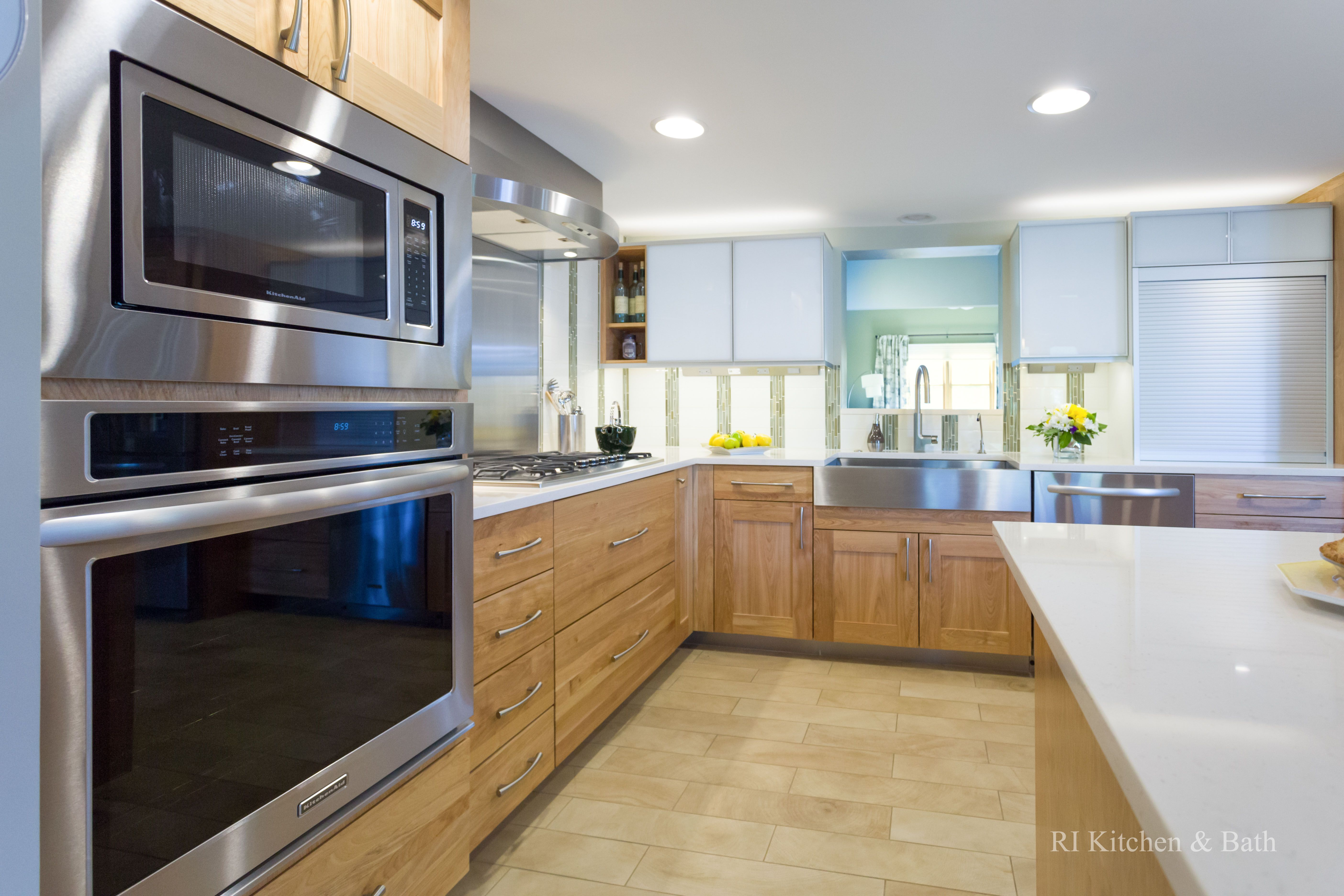 Clean Lined Contemporary Kitchen Designed By RI Kitchen U0026 Bath #RIKB  #ContemporaryKitchen #StainlessSteel