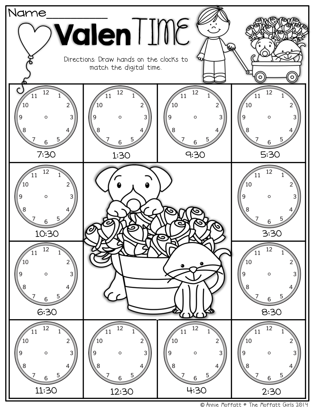 Valentime Clocks Time By The Half Hour With Images