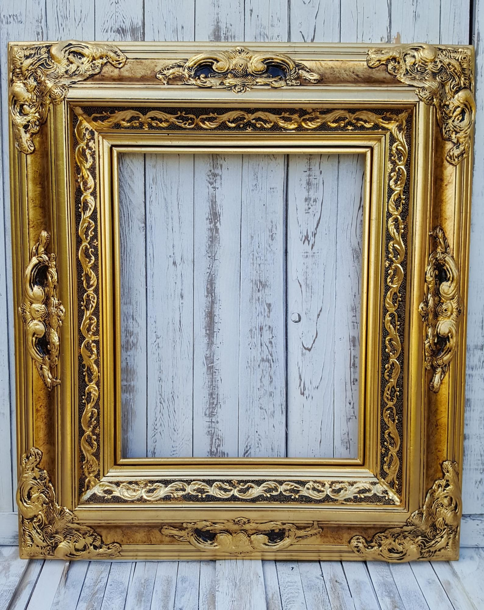 Baroque Victorian Style Frame Antique Gold Photo Etsy Vintage Picture Frames Gold Picture Frames Painting Frames