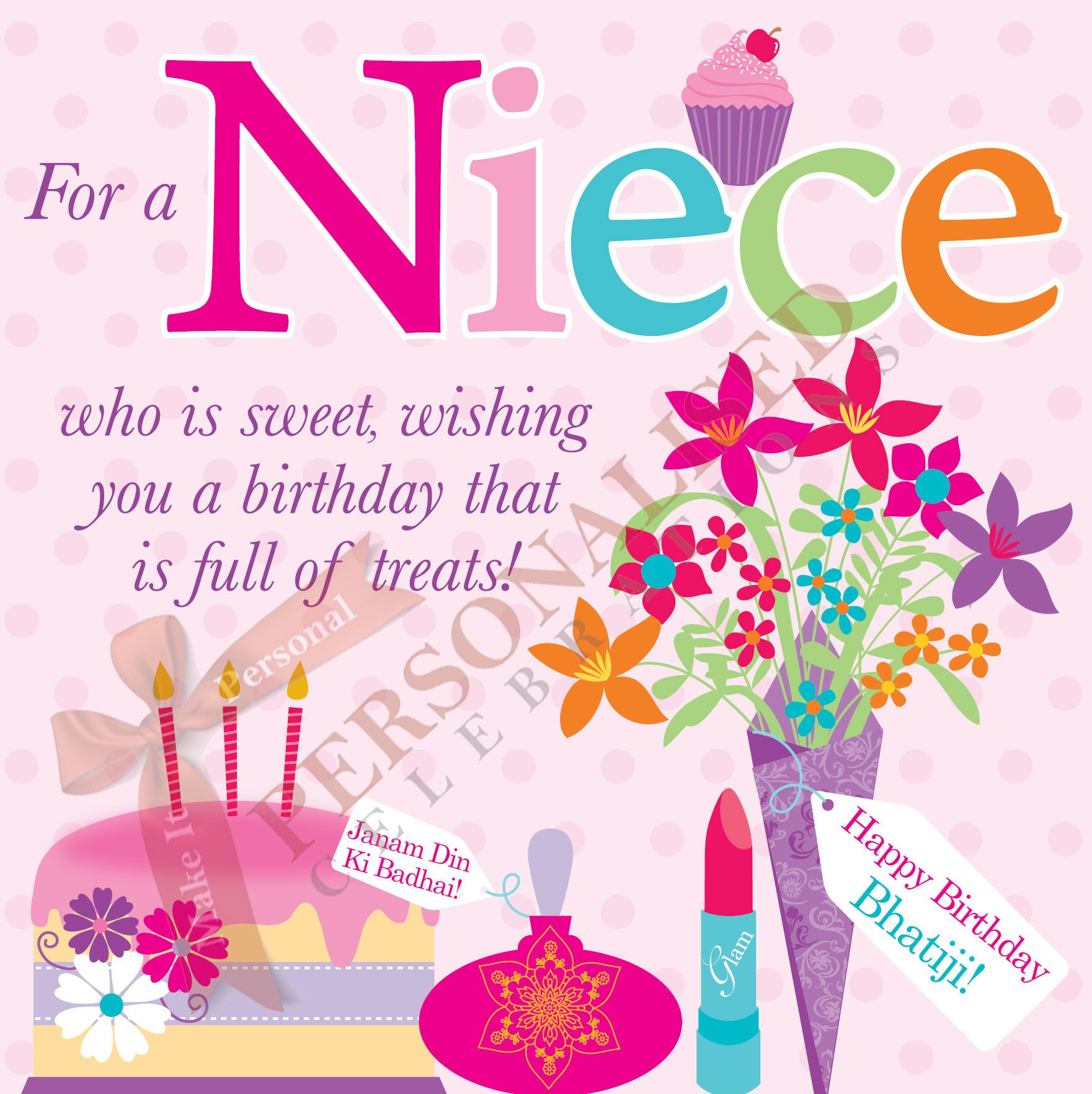 Niece birthday card buy this card online only 199 at http niece birthday card buy this card online only 199 at httppersonalisedcelebrations m4hsunfo Choice Image