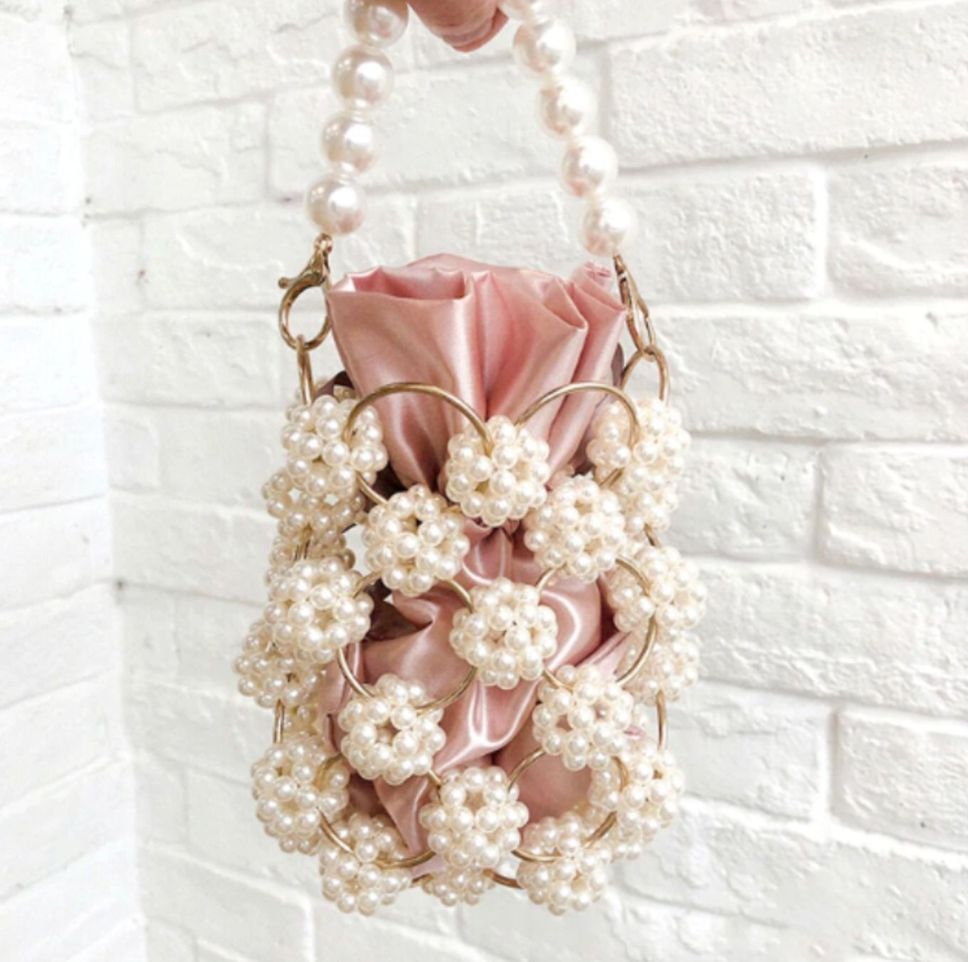CB170 Hollow Out Pearl Small Evening Bags in 2020 Pearl