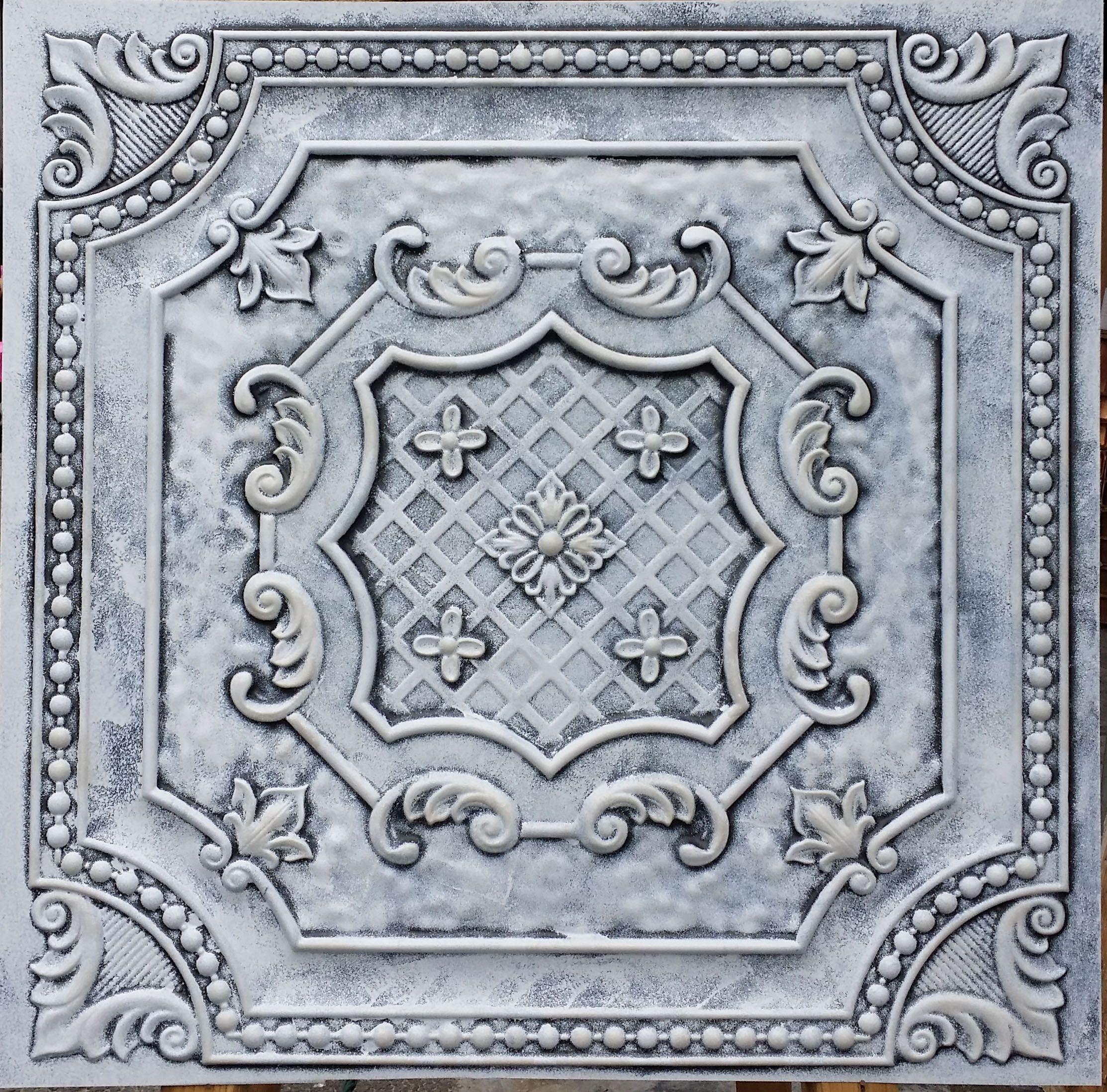 faux tin PVC 3D Decorative wall