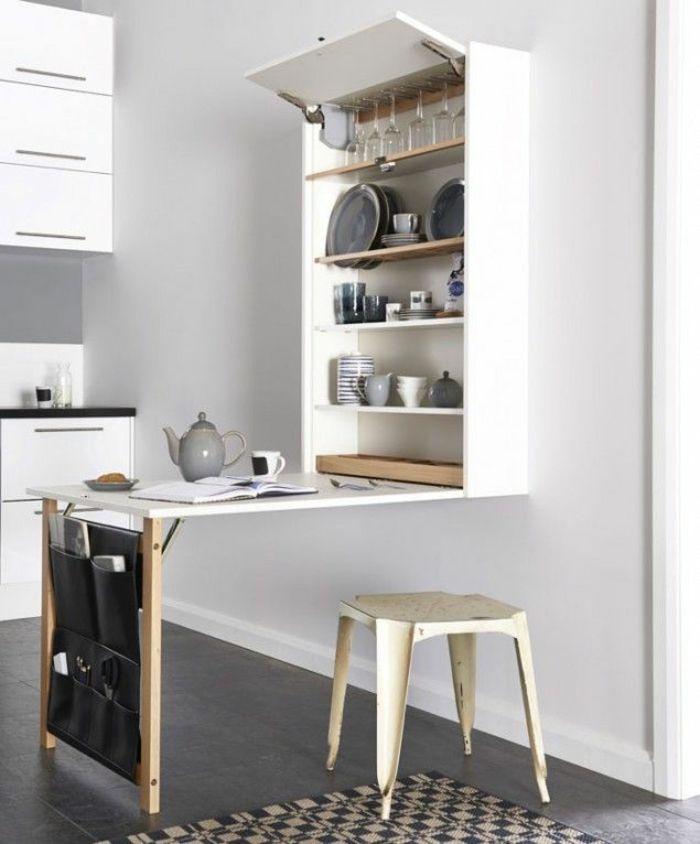 La table de cuisine pliante 50 id es pour sauver d 39 espace - Table a manger pliable ...