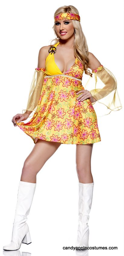 90d7ae8b53b5 Adult 60 s Flower Child Costume - Candy Apple Costumes - 70 s Costumes