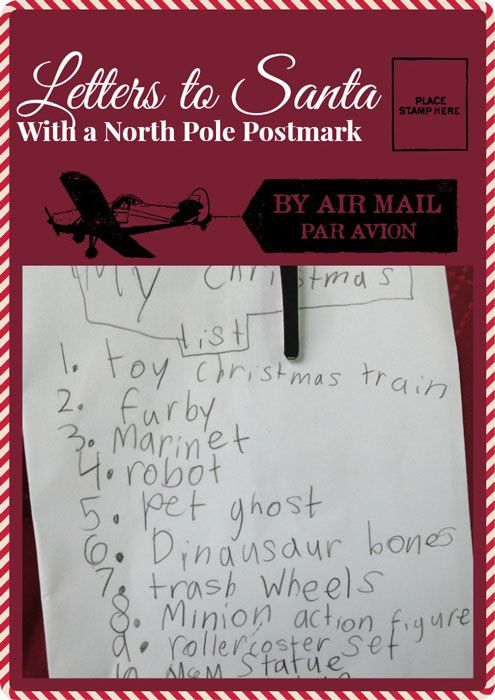 Letters to santa with a north pole postmark north pole santa and letters from santa with a north pole postmark spiritdancerdesigns Choice Image