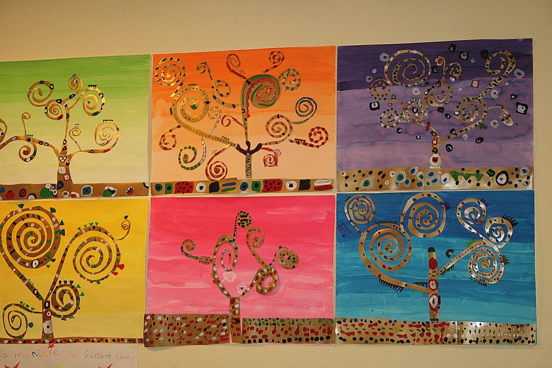 Klimt L Arbre De Vie Tableau les arbres en arts visuels en maternelle | la manière de
