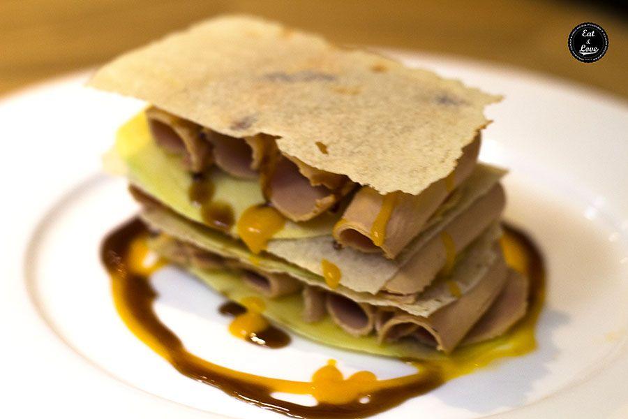 Crujiente de mango y foie - restaurante Caray