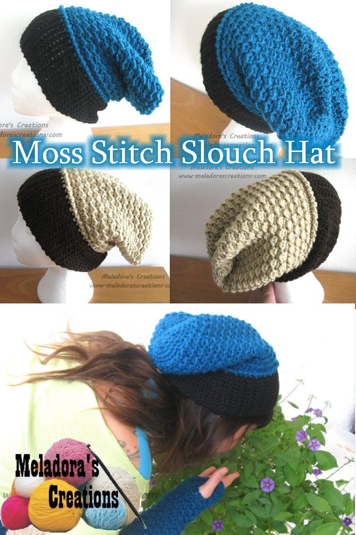 Your place to learn to crochet the Moss Stitch Slouch Hat for FREE. By  Meladora s Creations - Free Crochet Patterns and Video Tutorials 078d592b55b