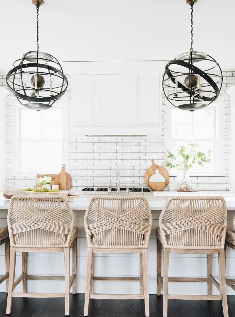 15 Coastal Counter Chairs Bar Stools For Beach Homes In 2020 Counter Chairs Coastal Kitchen Kitchen Credenza