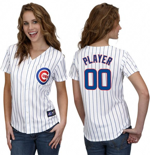 buy online 9201b 0da80 Chicago Cubs Ladies (Personalized or MLB Player) Home ...