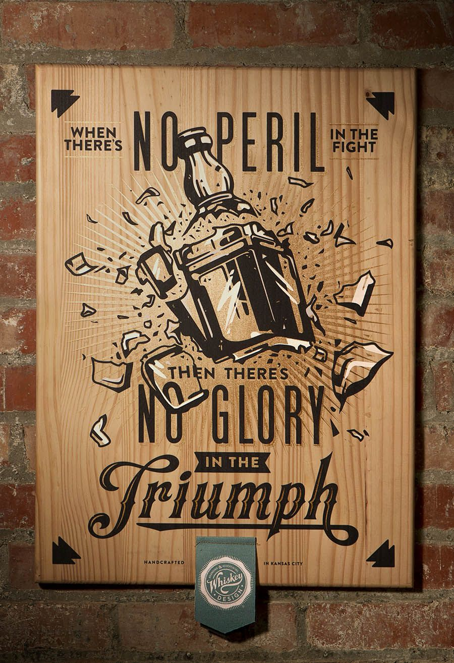 3 Color Screen Print On Wood Gift For Clients By Whiskey Design