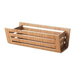 RIMFORSA Basket, 32x15x11 cm S$18.90  Good for putting small pots of herbs. Can hang on Wall to store onion/garlic etc