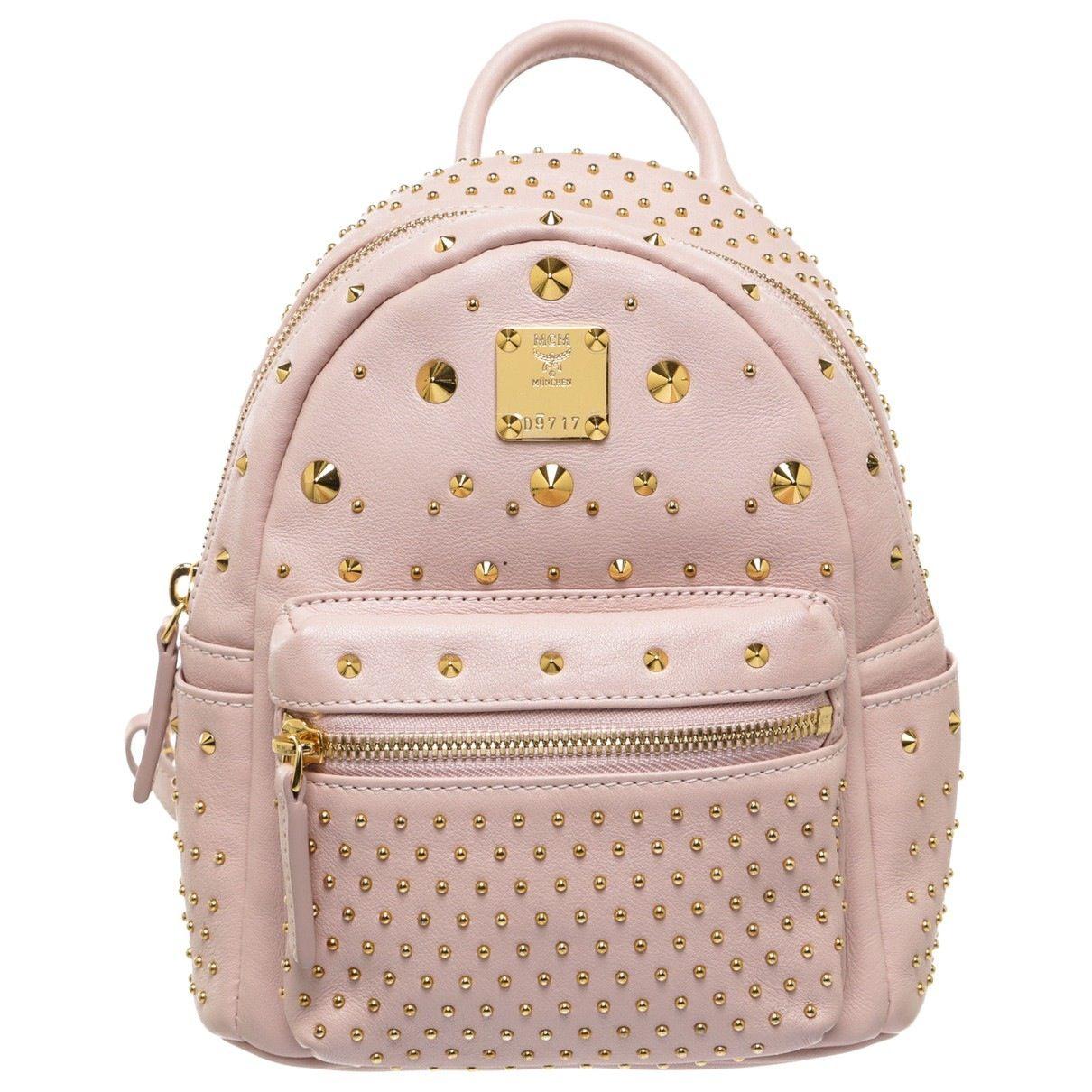 Baby Pink Backpack   MCM   Catchys   Mcm tasche, Taschen