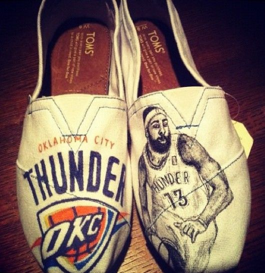 new style fcbc8 c67f1 Ahh customized James Harden, Oklahoma City Thunder slippers... put Kevin  Durant on them and I m sold!