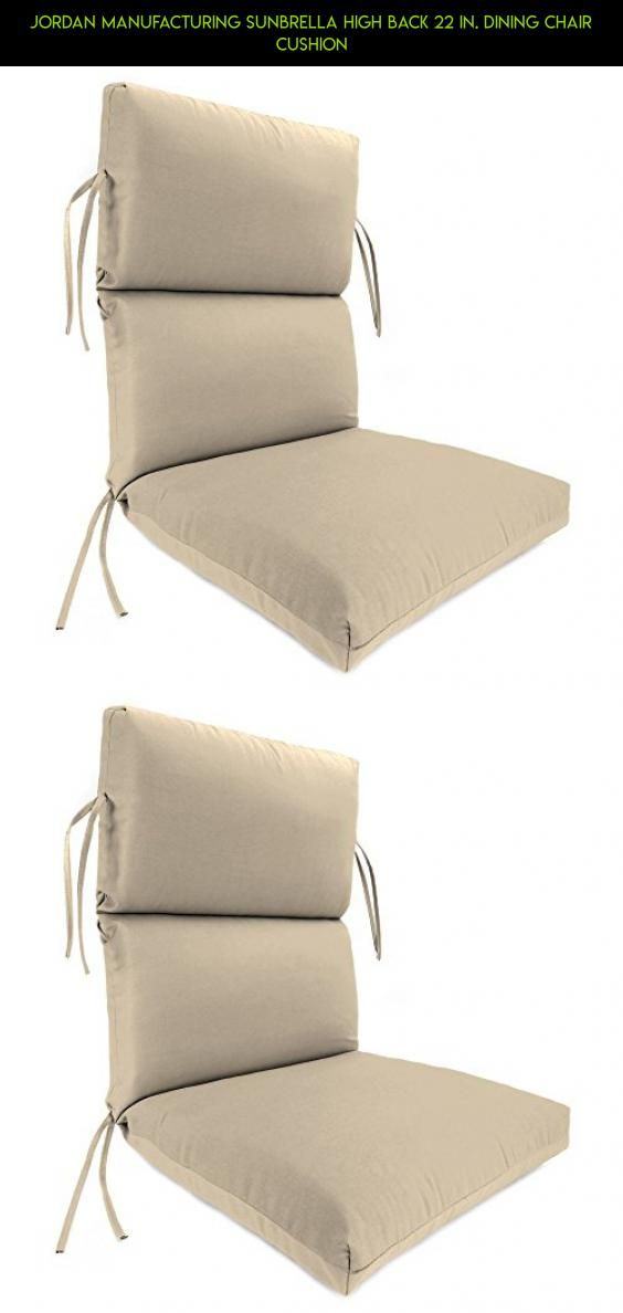Jordan Manufacturing Sunbrella High Back 22 In Dining Chair Cushion