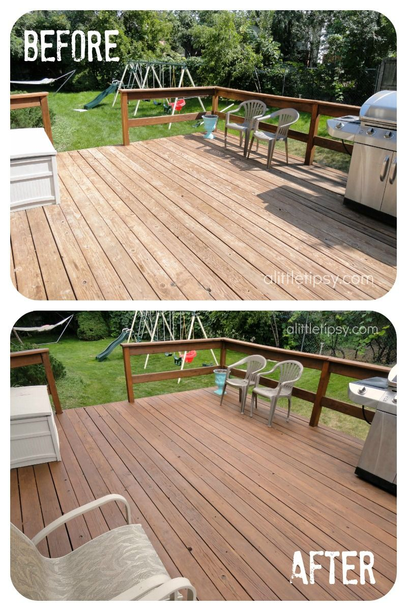 How To Refinish A Deck In One Day Building A Deck Backyard Diy