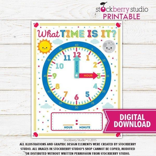Learn Time Printable Clock Learning Time 1st Grade