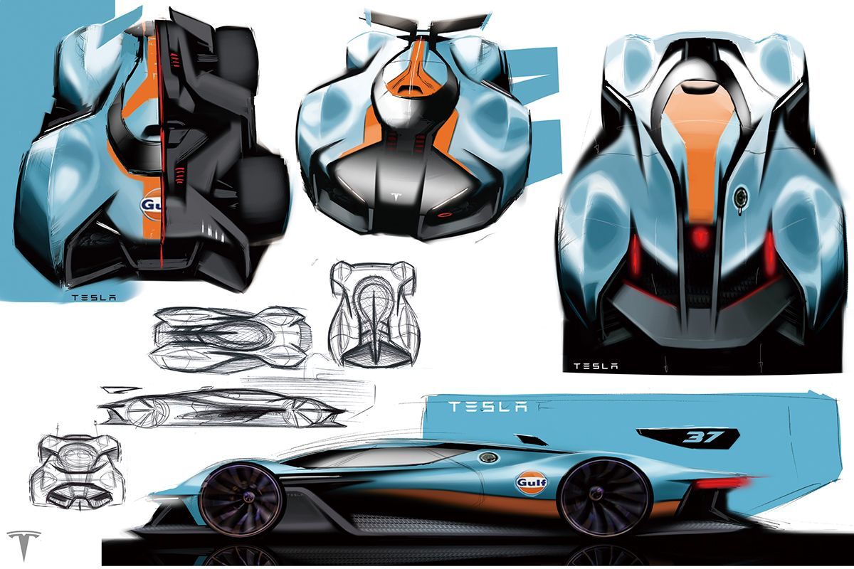 2016 Personal Project_Hyper car for TESLA_MODEL H on Behance