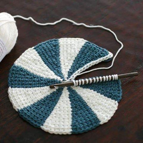 "Staci Perry on Instagram: ""New free pattern and video tutorial next Wednesday, Tunisian Crochet Shaker Dishcloths."" #tunisiancrochet"