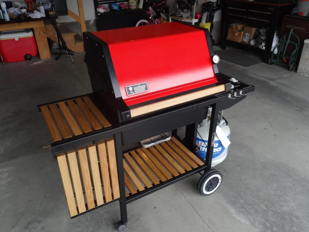My Genesis 1000 Red Head Is Done In 2020 Wood White Oak Oak