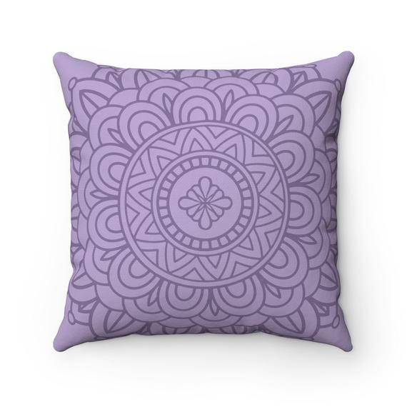 Items similar to Purple Boho Pillow Cover   Purple Mandala Pillow   Mandala Pillow   Boho Chic Decor   Decorative Pillow   Throw Pillow Cover on Etsy
