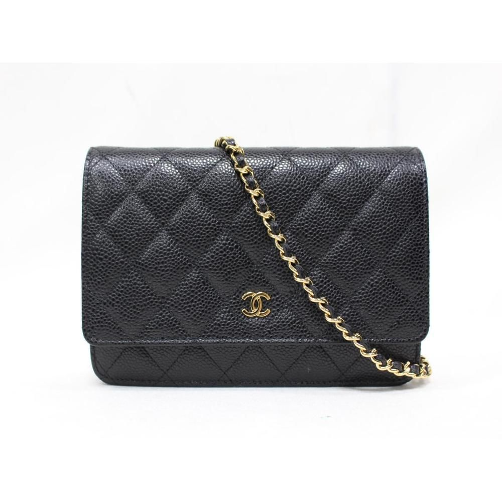 af122b83e675 Authentic CHANEL Chain wallet shoulder bag Purse A33814 Caviar skin leather  Used #fashion #clothing #shoes #accessories #womensbagshandbags (ebay link)