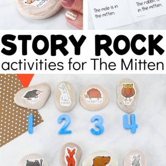 Activities for The Mitten With Homemade Story Stones