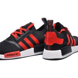 premium selection 3267a f8901 Adidas Original NMD Runner black red for women