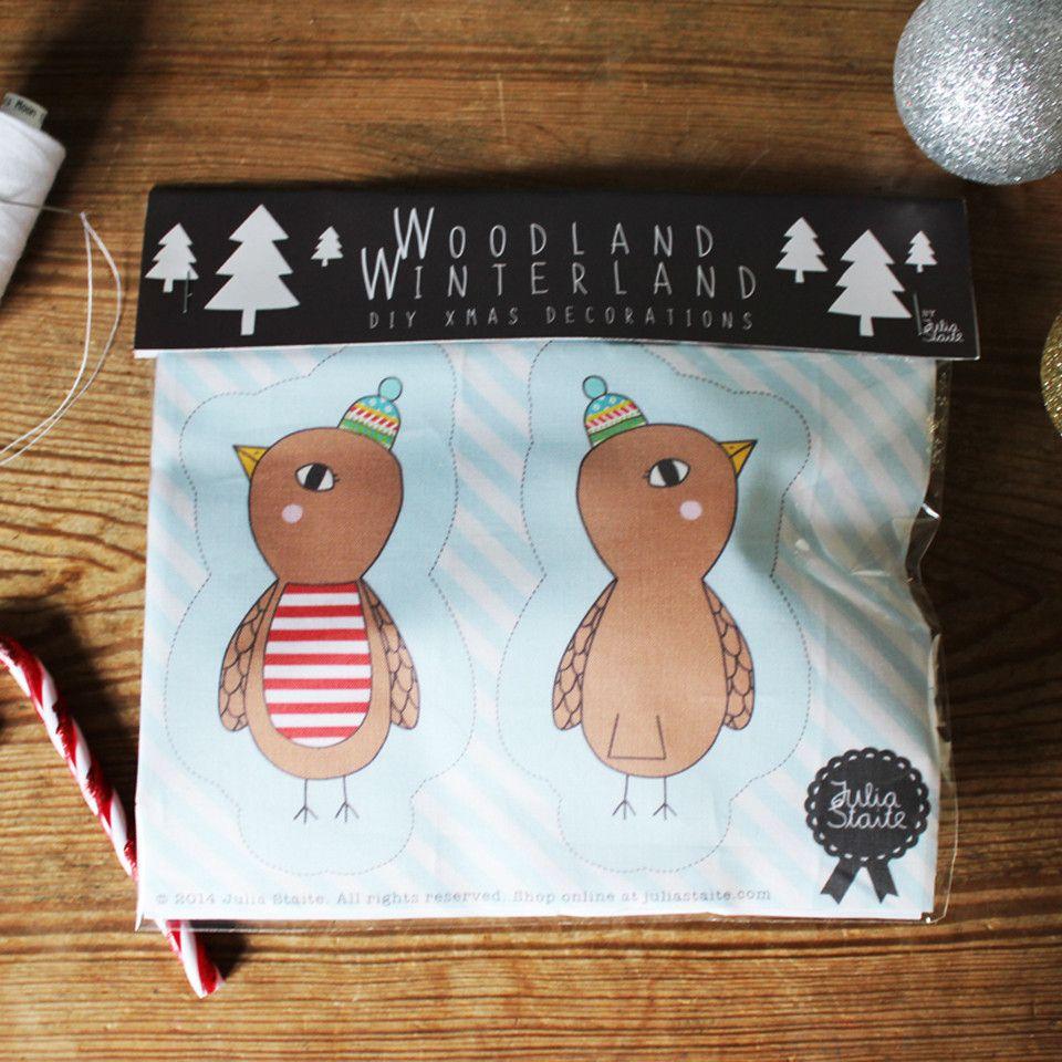 Julia Staite Woodland Winterland DIY Decoration Kit Robin