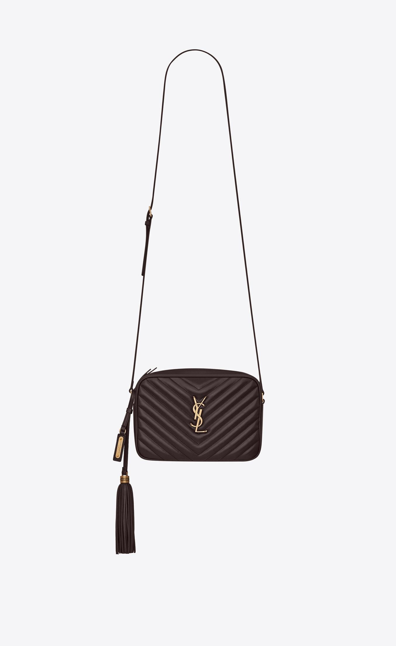 ff6d0636bf98 Saint Laurent LOU Camera Bag In Quilted Black Tulip Leather | YSL.com