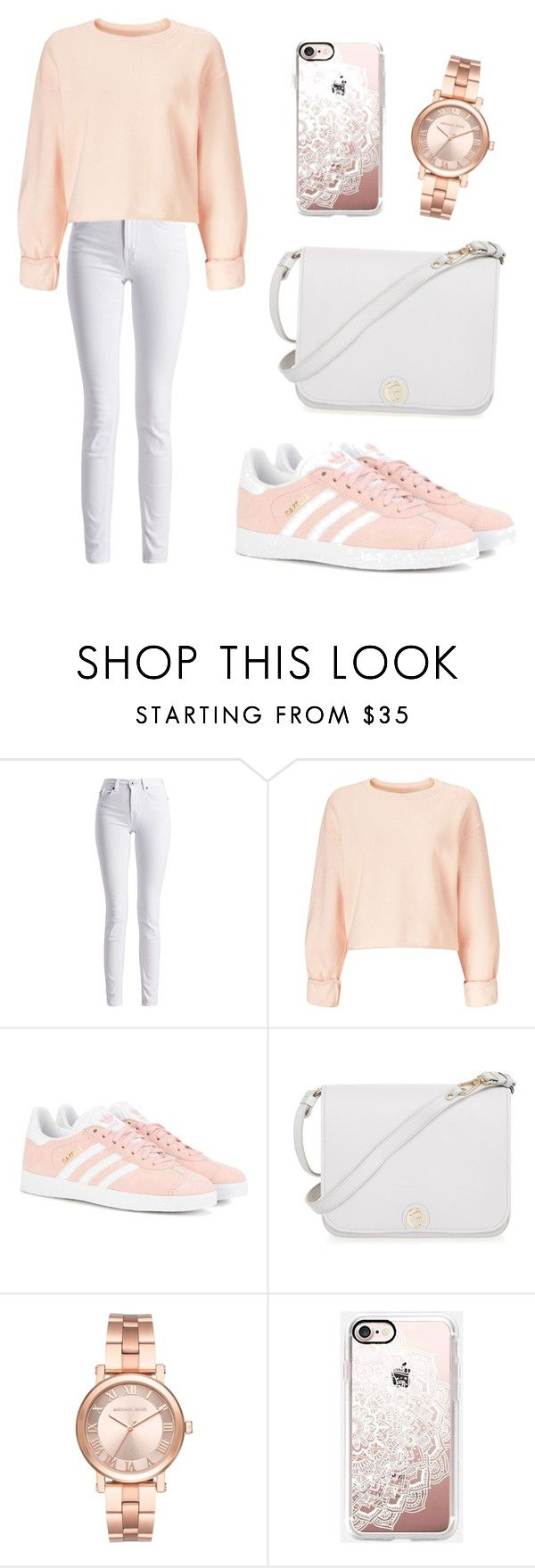 """""""Untitled #6"""" by angelaabrahamyan ❤ liked on Polyvore featuring Barbour International, Miss Selfridge, adidas Originals, Furla, Michael Kors and Casetify"""