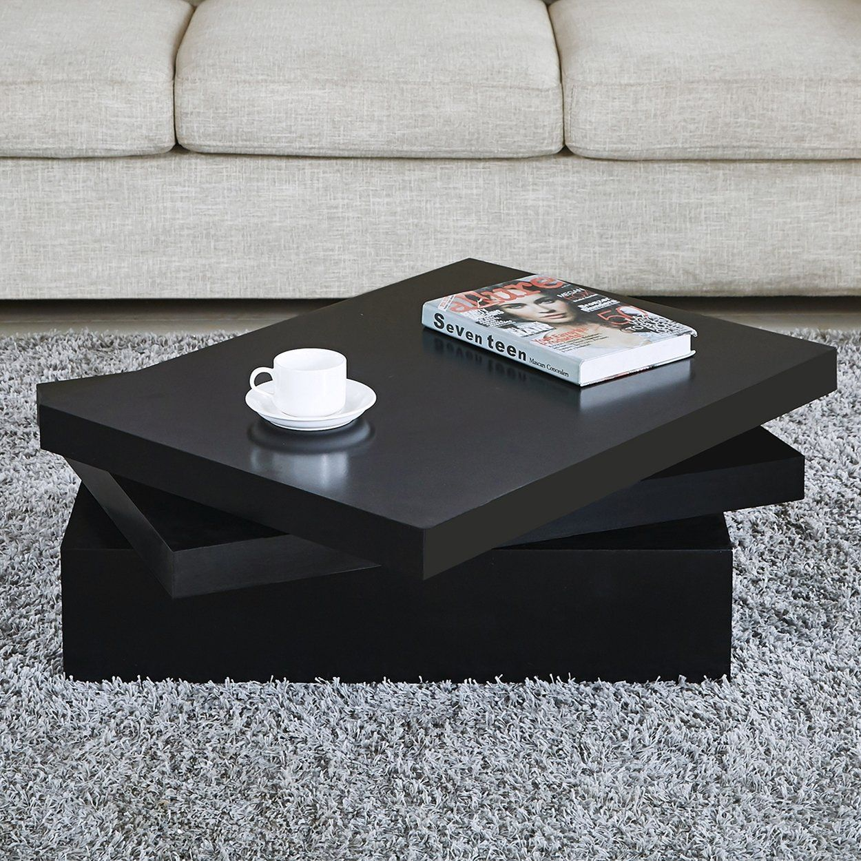 Sensational Newretailglobal Black Square Coffee Tables Rotating Cjindustries Chair Design For Home Cjindustriesco