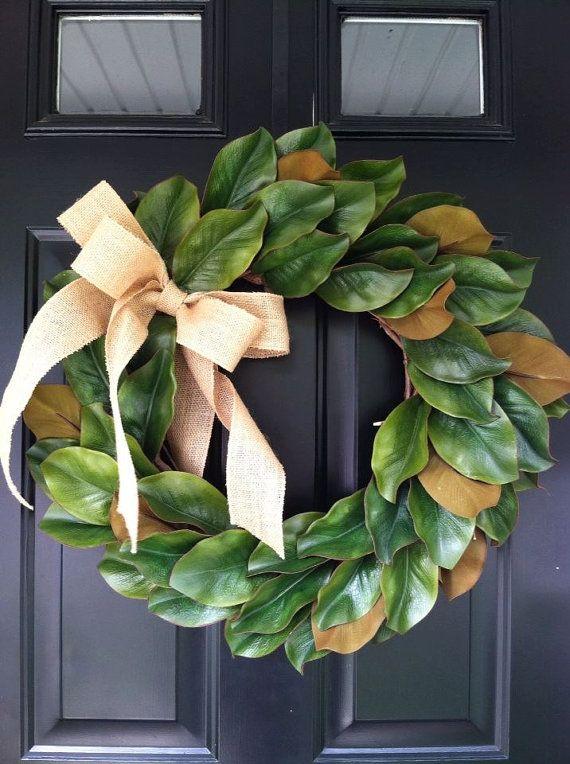 Magnolia Wreath All Year Long Wreath Everyday By Jennycmoon