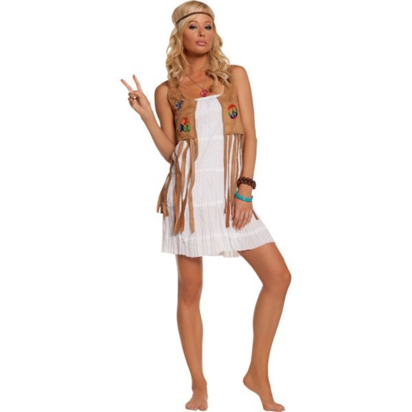 Adult Flower Child Hippie Costume This could so be diy! Halloween