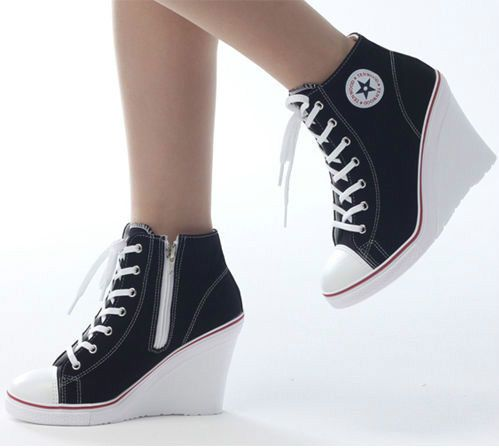 8ff8a5c3a38684 Wedges Trainers Heels Sneakers Platform High Top Ups Zip Boots Converse