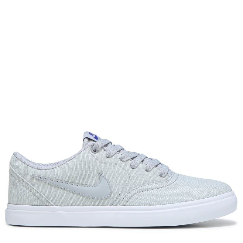 new style 61a4f c2c2b Nike Men s Nike SB Check Solar Canvas Skate Shoes (Grey White) - 10.0 M
