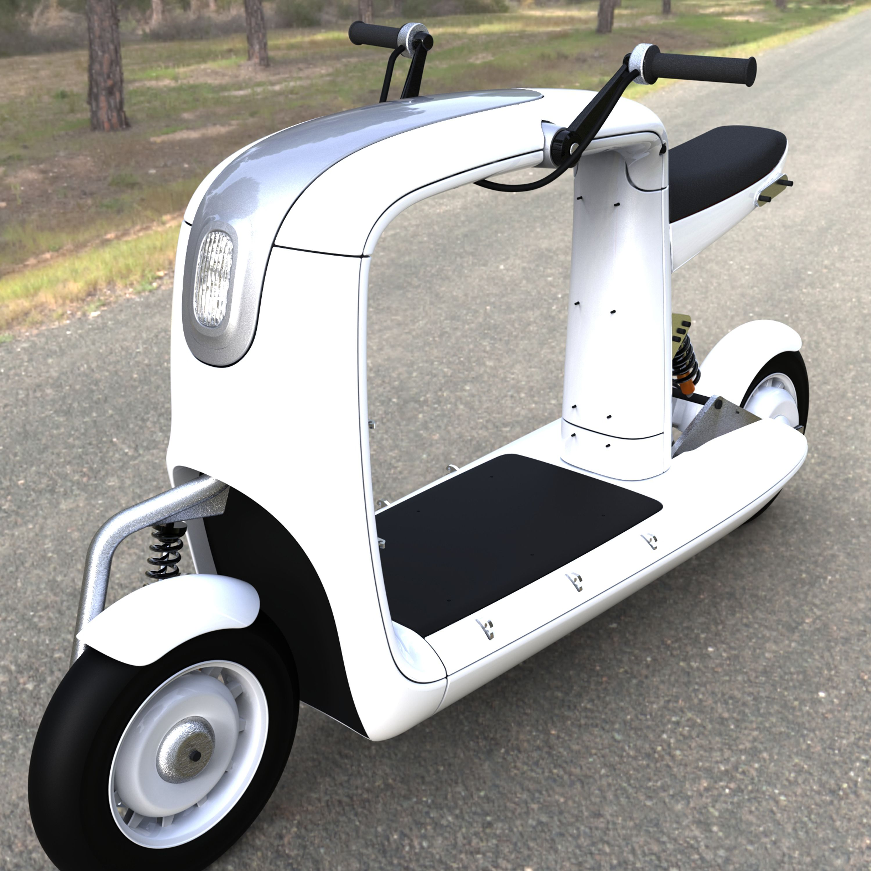 Our cargo scooter is also fully electric, and can carry a