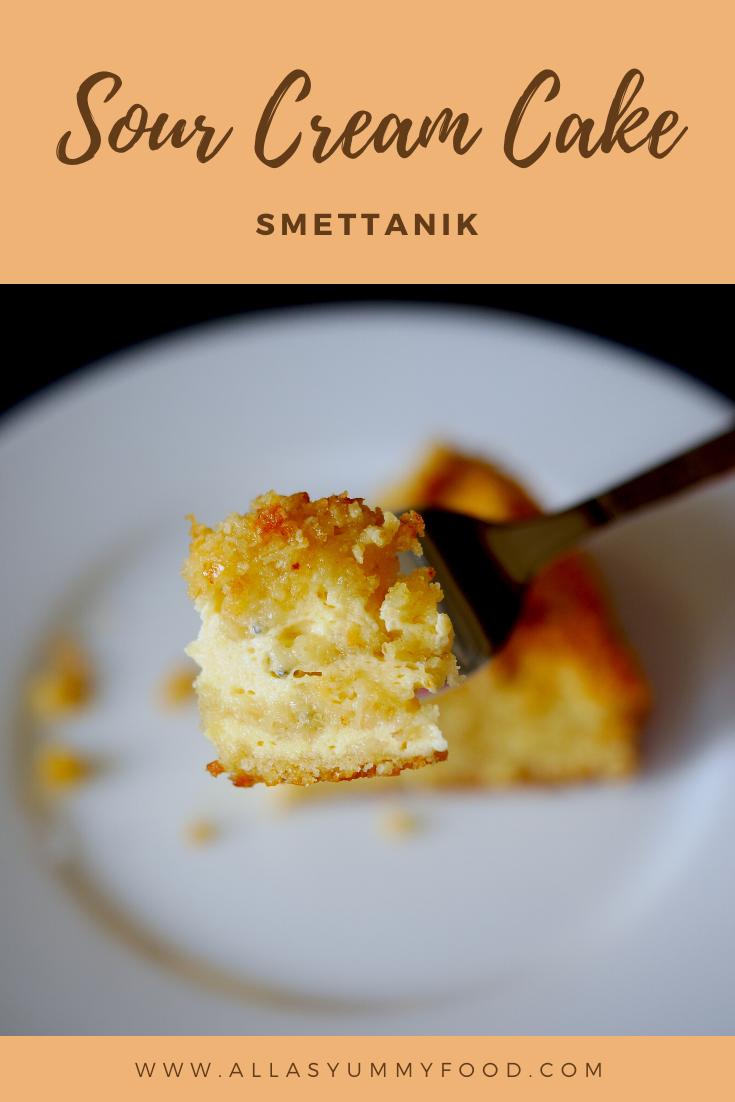 Russian Sour Cream Cake Smettanik Sour Cream Cake Russian Desserts Cooking