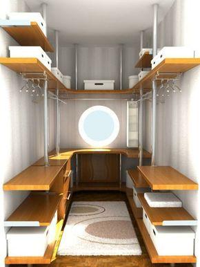 kleine begehbaren kleiderschrnke mit rundem fenster in u form - Kleine Schlafzimmerideen Mit Lagerung