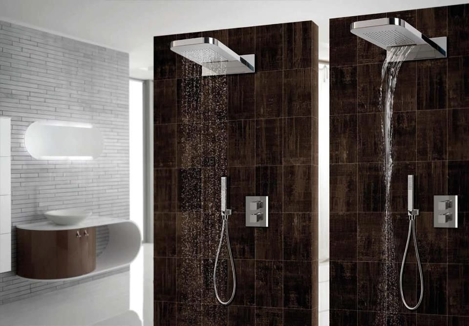 Doble ducha interiores inside pinterest duchas - Ducha doble ...