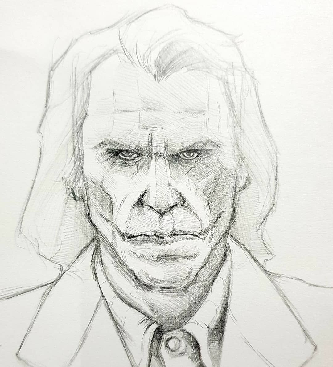 #joker # batman #arkhamasylum #dc #drawing #art #sketch #pencil #boredaf