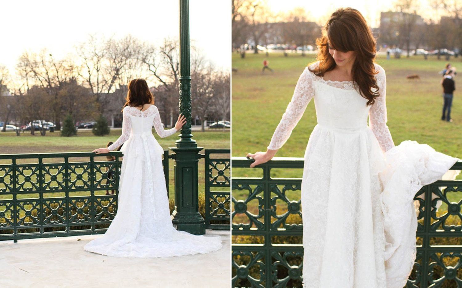 Mid century lace wedding gown formal dresses pinterest lace