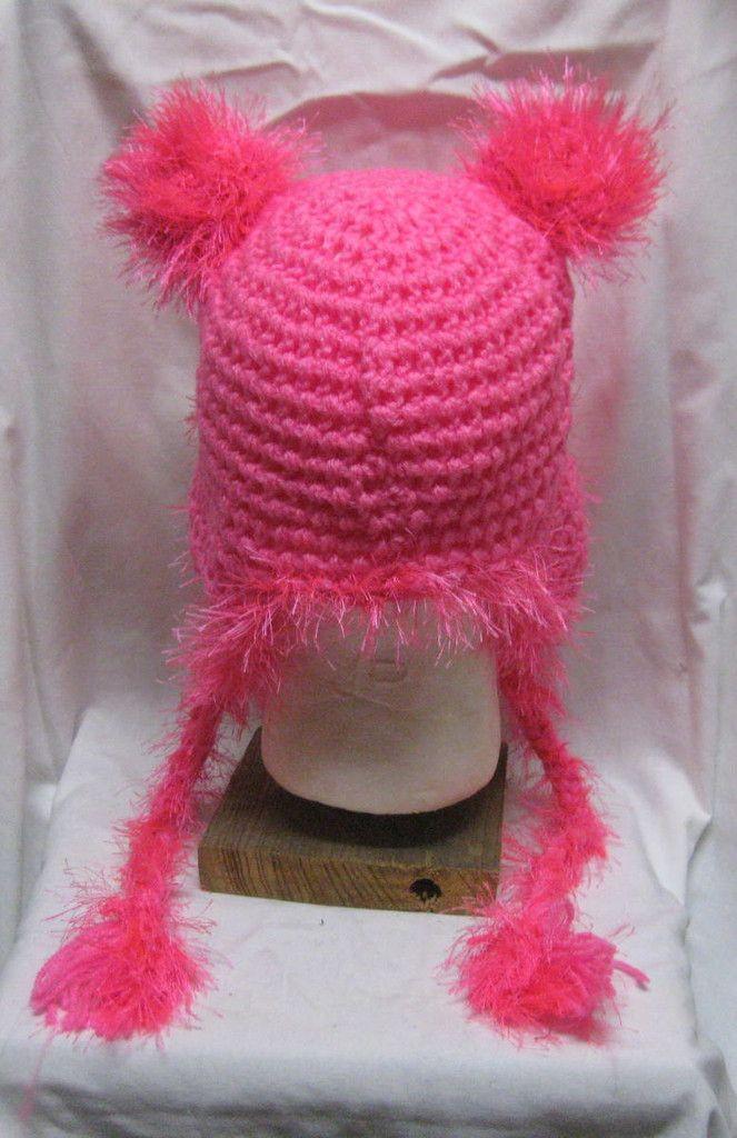Hot Pink Hat with Fringe