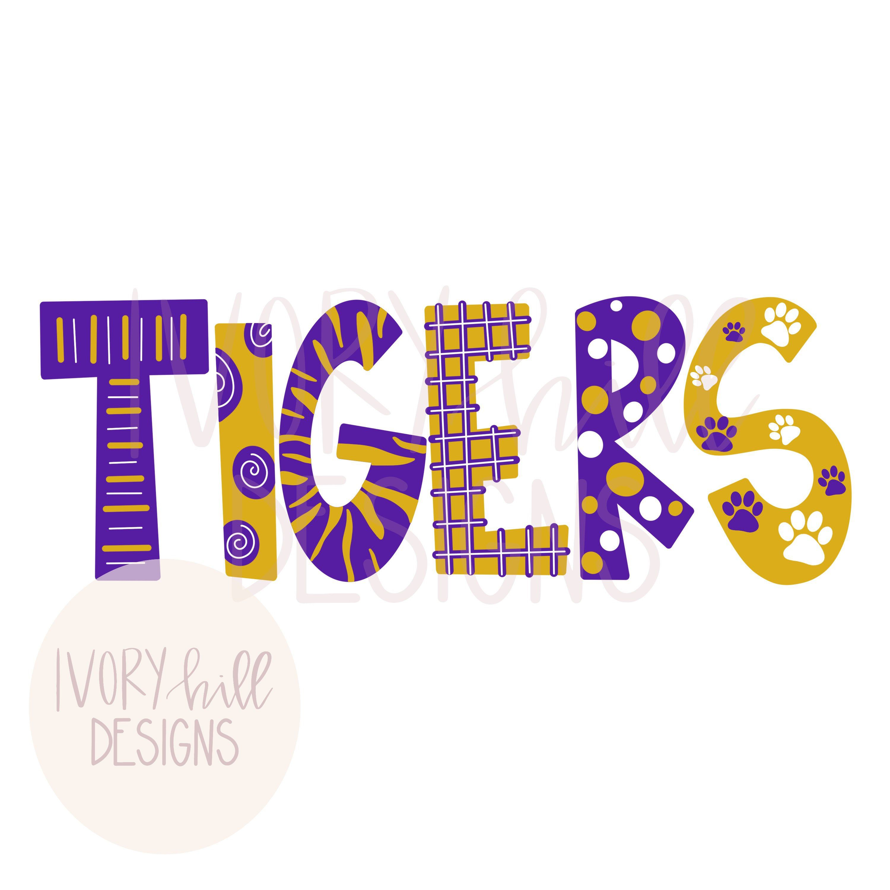 Louisiana Lsu Tigers Printable Digital Download Png Clipart For Sublimation And Inkjet Printing By Ivoryhilldesigns On Etsy Lsu Tigers Football Lsu Lsu Tigers
