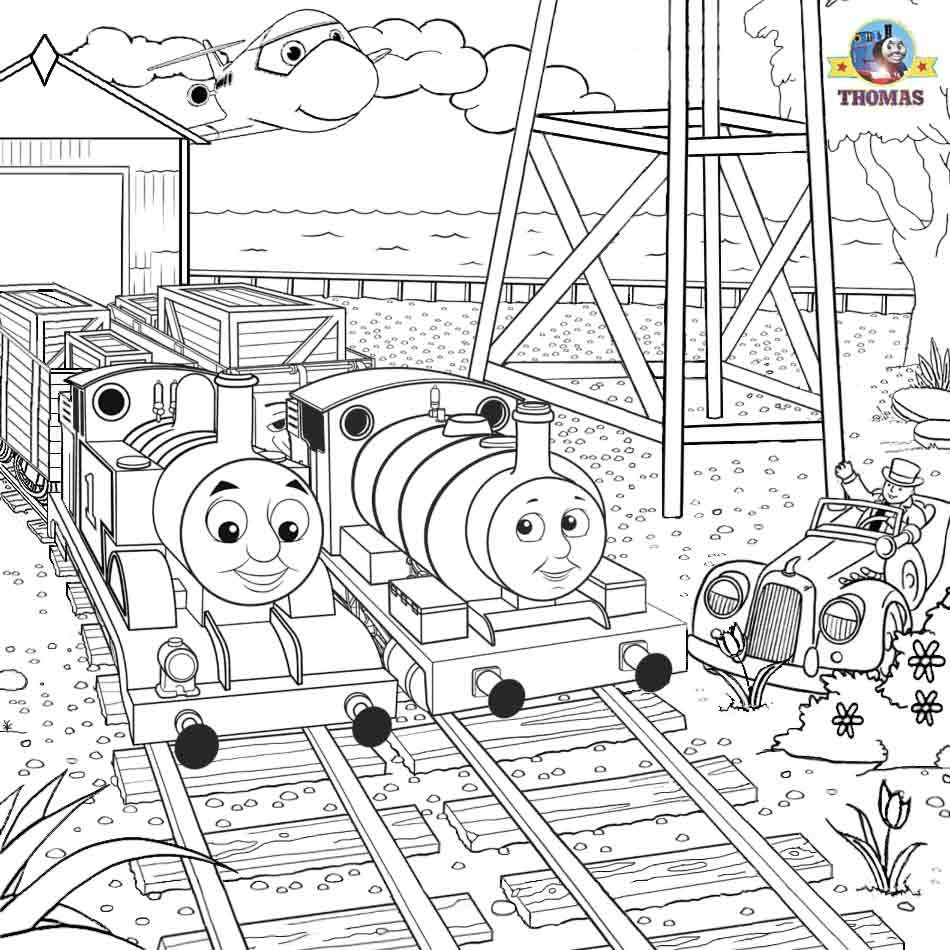Thomas Tank The Train Coloring Steam Engine Pictures To Color