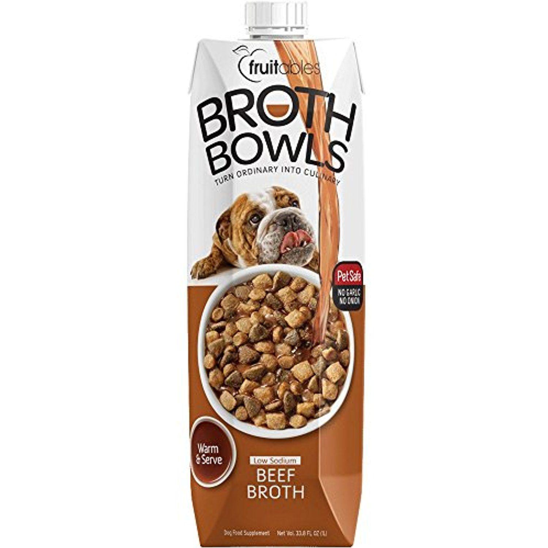 Fruitables beef broth bowl pet safe natural food topper