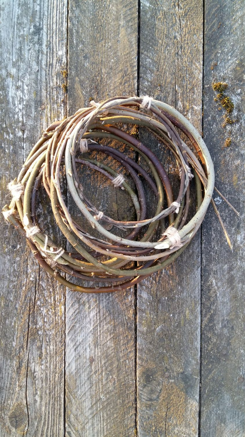 Dream Catcher Craft Supplies 40 twigs hoops dreamcatcher circle natural willow branches dream 16