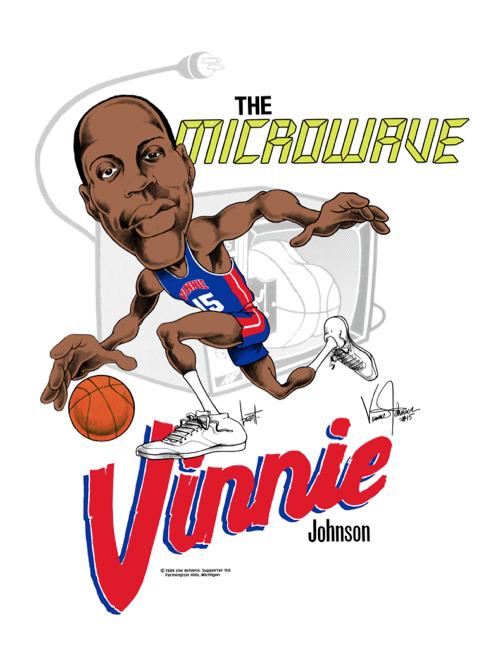 "Vinnie ""The Microwave"" Johnson Caricature TShirt"