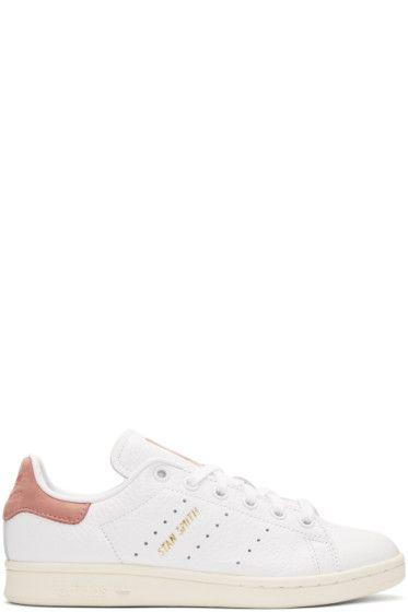113e9d9e6 adidas Originals x Pharrell Williams - White   Pink Stan Smith Sneakers